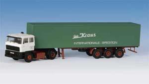 Kibri 14646 - H0 DAF truck with box body semi-trailer**discontinued**