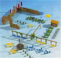 Kibri 36694 - Fountain accessory set