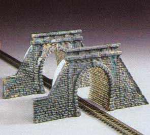 Kibri 36900 - Z Tunnel portals with tube, single track, 2 pieces