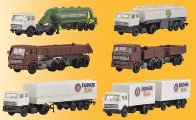 Kibri 36980 - Z Set Trailer trucks, 6 pieces