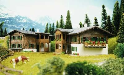 Kibri 37029 - N Alpine chalets Sertig, 2 pieces