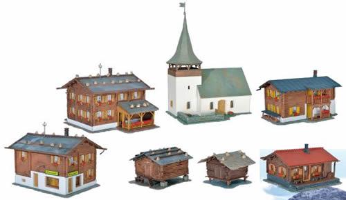 Kibri 38010 - HO Set Sertig Village Kit