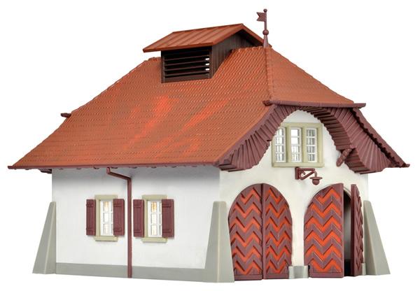 Kibri 38032 - Rural fire station incl. house illumination start-set