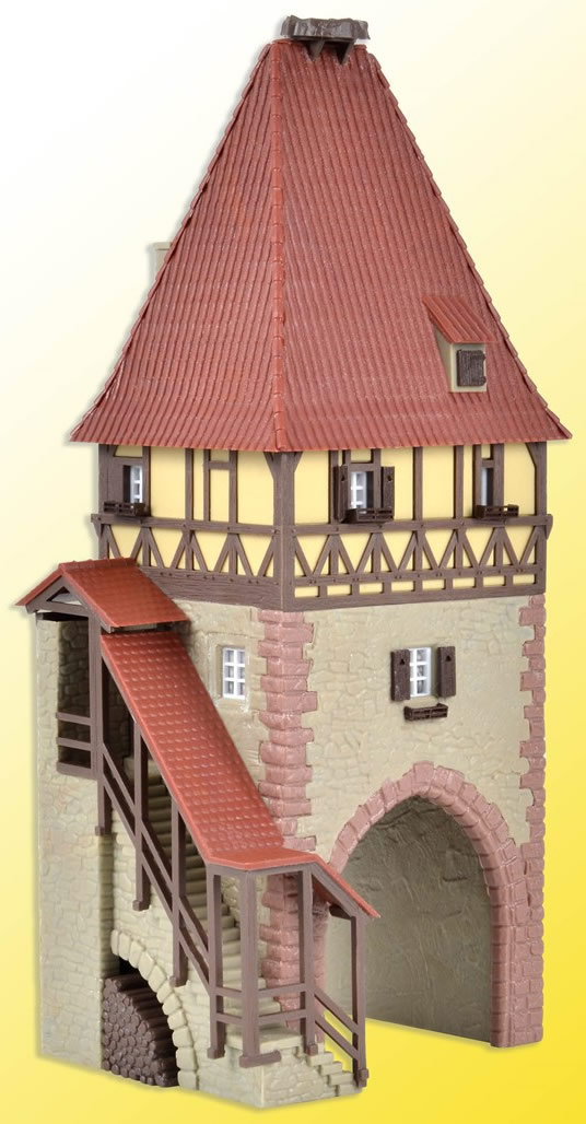 Kibri 38470 - H0 Timber-framed tower with gate