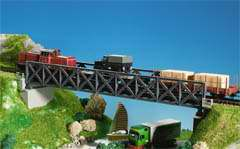 Kibri 39702 - H0 Framework steel bridge, single track
