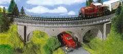 Kibri 39722 - Curved Stone Arch Bridge
