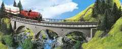 Kibri 39723 - Curved Stone Bridge Sngl