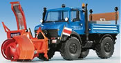 H0 UNIMOG with lateral rotary snow blower**discontinued**