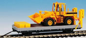 H0 ROBEL trailer 55.54 with construction equipment