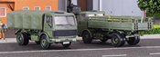 H0 Military Truck MB 1017/1017A flatbed truck,2 pieces