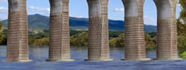 N/Z Viaduct pillars with ice breaking foundations,6 pcs.