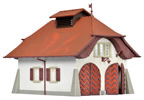 H0 Rural fire station incl. house illuminationstarter set