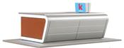 H0 Modern kiosk incl. LED lighting