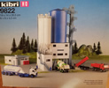 Grain Silo with vehicles and figures