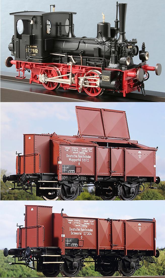KM1 100008 - Starter Set German Steam Locomotive BR 98.75, O 02 (200210), K 06 (200610), DB Ep. IIIa, NEM