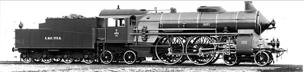 KM1 101502 - German Steam Locomotive S 2/6 of the K.Bay. St.B.