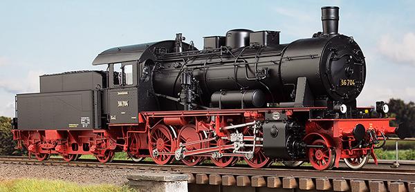 KM1 105601 - German Steam Locomotive BR 56 704, DRG Ep. IIb, Rbd Mainz, NEM