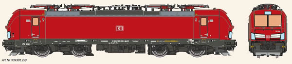 KM1 109301 - German Electric Locomotive VECTRON of the DB AG