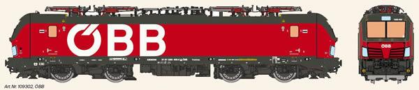 KM1 109302 - Austrian Electric Locomotive VECTRON of the OBB