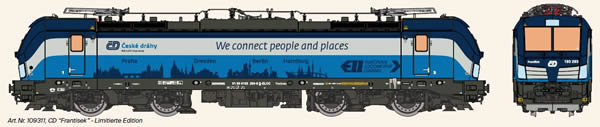 KM1 109311 - Czech Electric Locomotive VECTRON of the CD