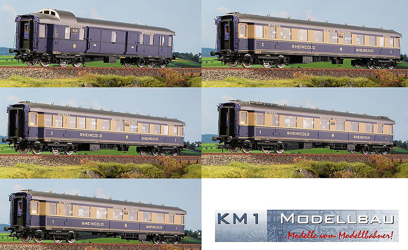KM1 202807 - Rheingold Five Coach Set