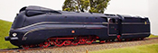 German Streamlined Blue BR 01 1102, Museum Locomotive