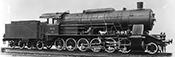 German Steam Locomotive BR 59 of the DB