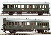 German Passenger Einheits-Abteilwagen Coach BC-21, DRG Ep. II, NEM
