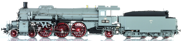 Lematec HO-2084 - Baden Express Locomotive BAD IVH Photo Grey Livery