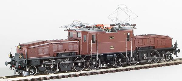 Lematec HO-211-4 - Swiss SBB Ce6/8 Crocodile Brown Livery