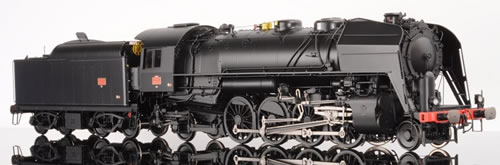 Lematec N-206-2 - French Steam Locomotive Class 141 R of the SNCF, Black Livery