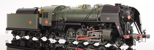 Lematec N-206-3 - French Steam Locomotive Class 141 R of the SNCF, Green Livery