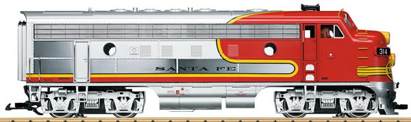 LGB 20583 - US Diesel Locomotive F7 A unit of the Santa Fe (Sound)