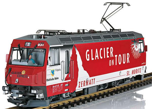 LGB 21428 - Swiss Electric Locomotive Class Ge 4/4 III Glacier on Tour of the RHB (Sound Decoder)
