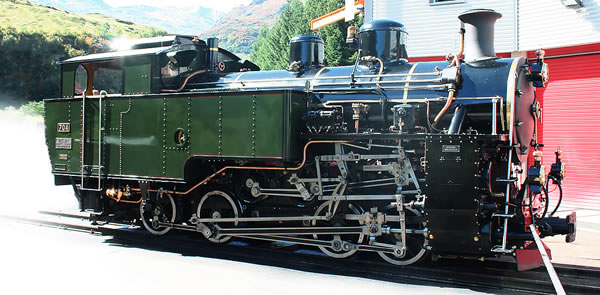 LGB 26270 - Swiss Steam Locomotive type HG 4/4 of the steam railway Furka-Bergstrecke (DFB) (Sound)