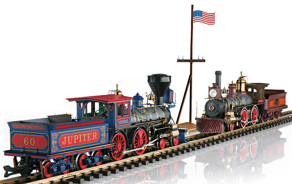 LGB 29000 - 150th Anniversary Golden Spike Locomotive Set (Sound)