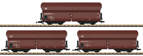 LGB 40980 - Hopper 3-Car Set, weathered of the DB