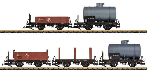 LGB 49550 - 5pc German Freight Car Set of the DR