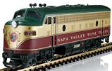 Napa Valley Wine Train Diesel Locomotive (Sound)