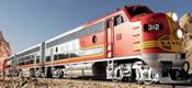US Diesel Locomotive F7A of the Santa Fe (Sound)