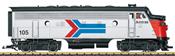 USA Diesel Locomotive Amtrak F7A (Sound)