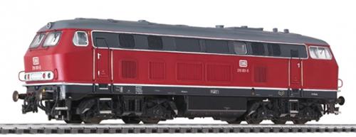 Liliput 132024 - Diesel Locomotive BR 219 Red DB Ep.IV DCC Sound
