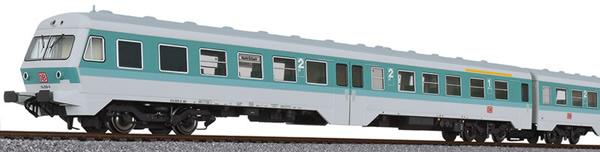 Liliput 133157 - German 3pc RailCar Set DMU BR 614 of the DB AG - Turquoise / Gray
