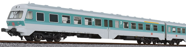 Liliput 133157 - German 3pc RailCar Set DMU BR 614 of the DB AG - Turquoise / Gray