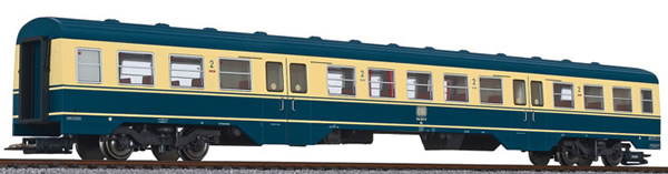 Liliput 133160 - Middle Passegner Car for BR 614 RailCar Set - Sea Blue / Beige