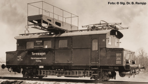Liliput 136135 - German Electric Maintanence Railcar of the DRG