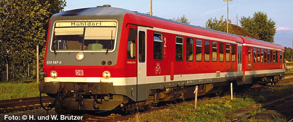Liliput 163202 - German Diesel Railcar BR 628 567-0/928 567-7 of the DB AG