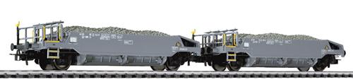 Liliput 230109 - Ballast Wagon Set with Ballast Load SBB Ep.V