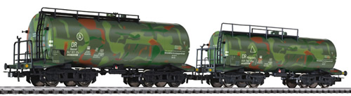 Liliput 230134 - Tank Wagon Set Military Camouflage Livery DR Ep.II