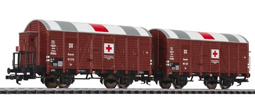Liliput 230136 - Auxiliary Ambulance Wagon Set DR Ep.II